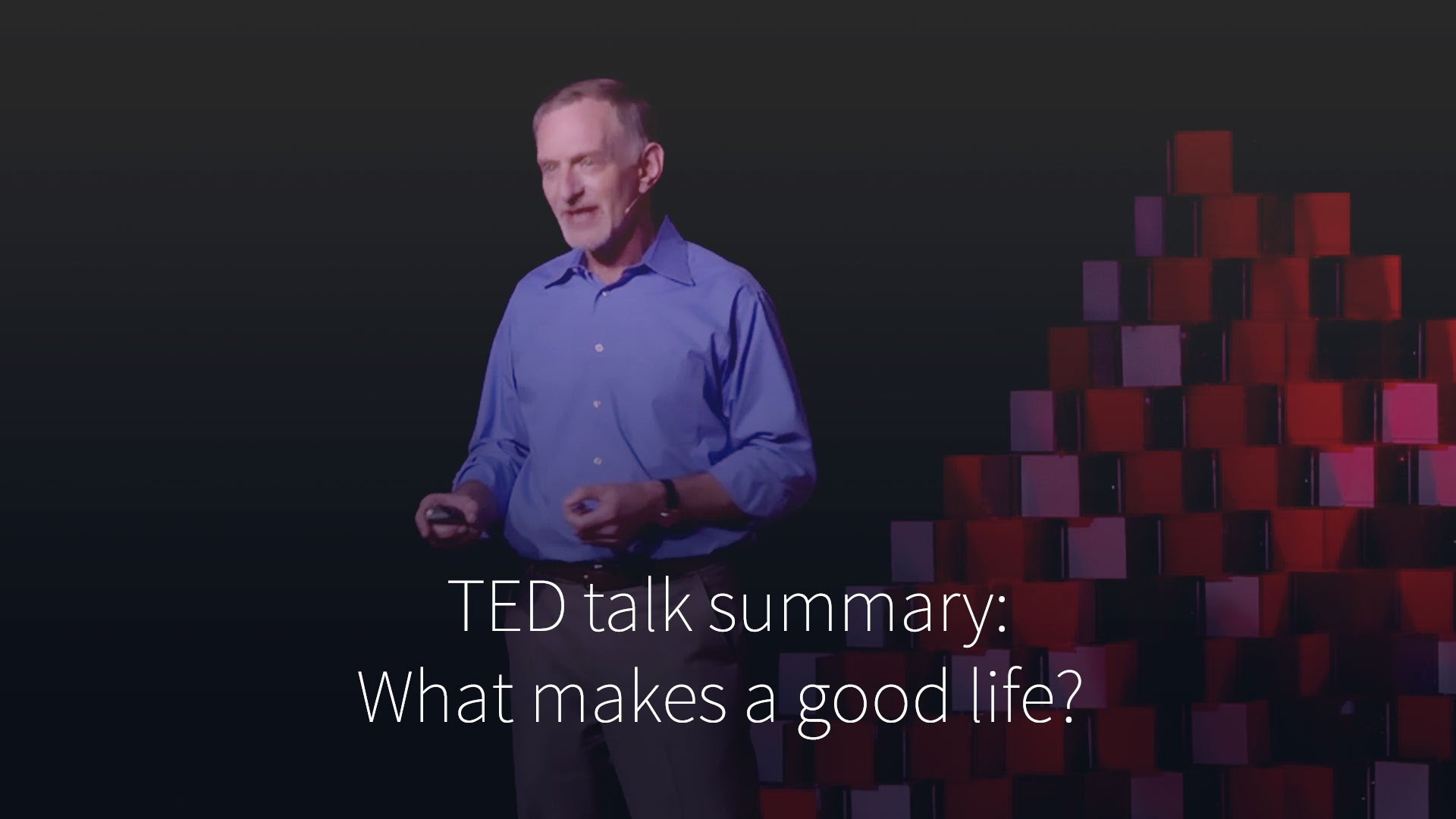 What Makes a Good Life ?