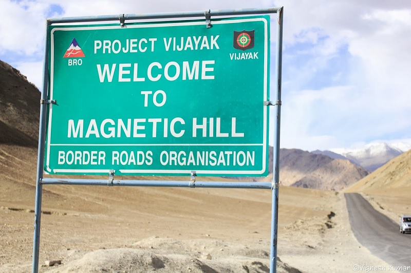 Get pulled uphill by magnetic force - Magnetic Hill, Ladakh