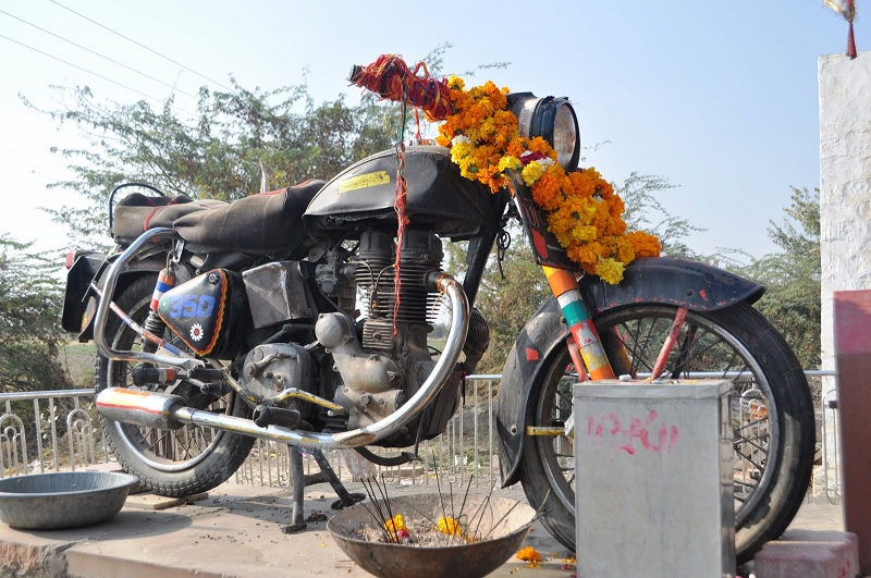 The Motorcycle God - Bullet Baba Shrine, Bandai, Rajasthan