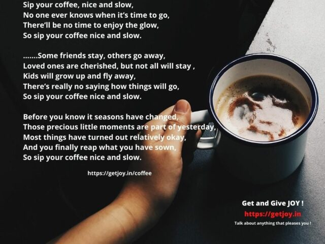 Sip your coffee….
